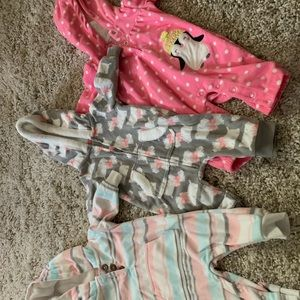 Baby girls footless carters sets